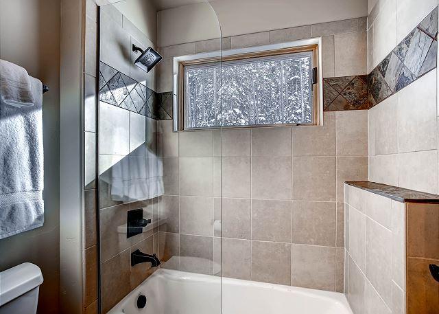Jack & Jill bathroom shower and tub