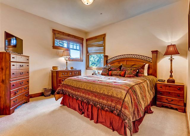 - sleeps 2 in one king bed with ensuite bath with shower