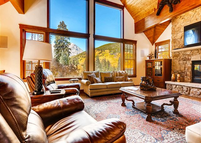 from this open and welcoming living area.