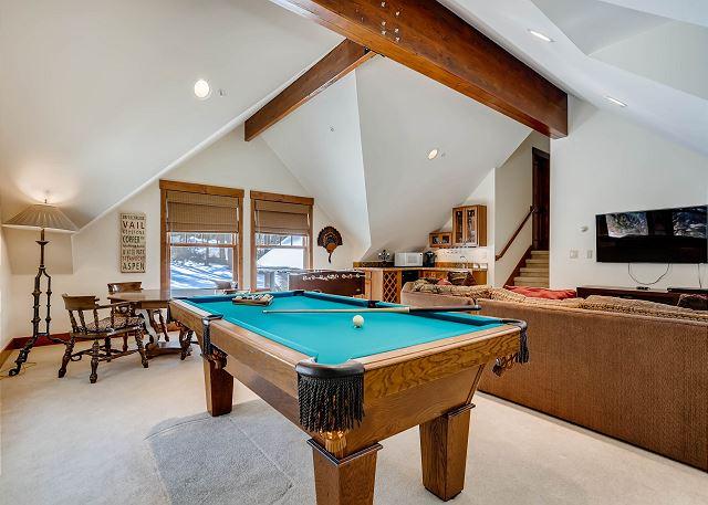 Billiards in the upper level den