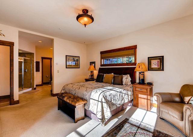 features King bed, fireplace, TV and spacious ensuite bath