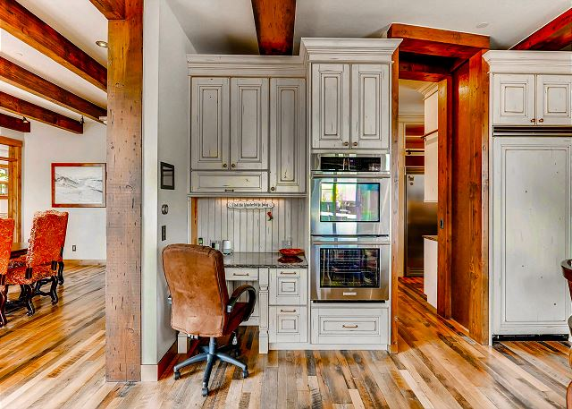 and entry to large kitchen pantry