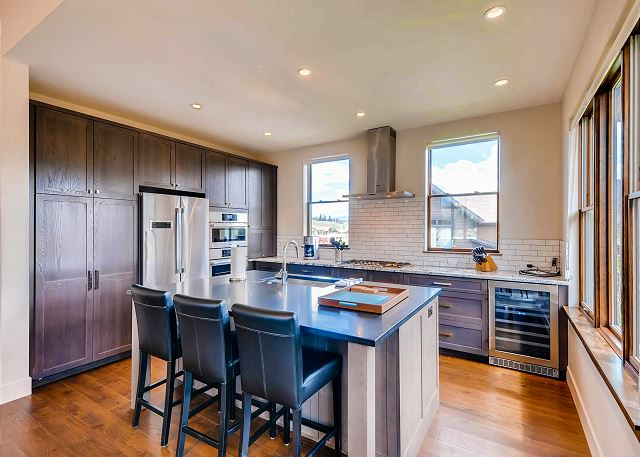 with lots of natural light and open to dining and great room