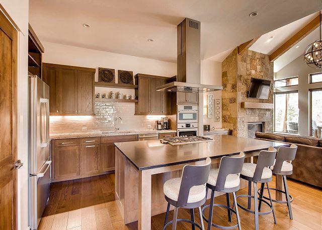 Additional kitchen island seating