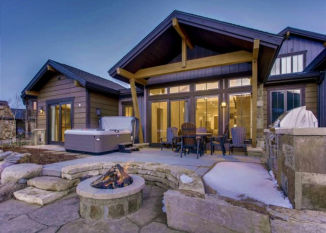 Relax to the soothing sound of running water as the nearby river runs through your backyard!