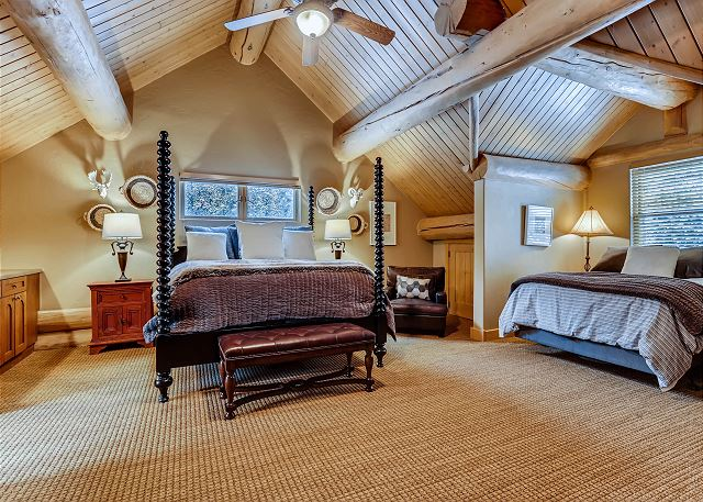- sleeps 5 in one king bed, one queen bed and one twin bed with ensuite bath and a wet bar with coffee maker