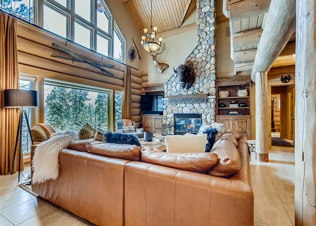 Great room with expansive windows