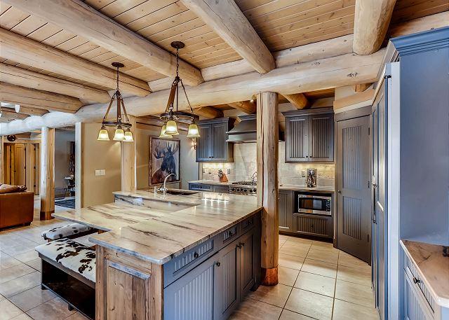 Kitchen looking to mudroom entryway