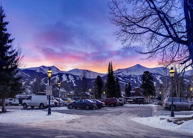 View of ski mountains for Harris House