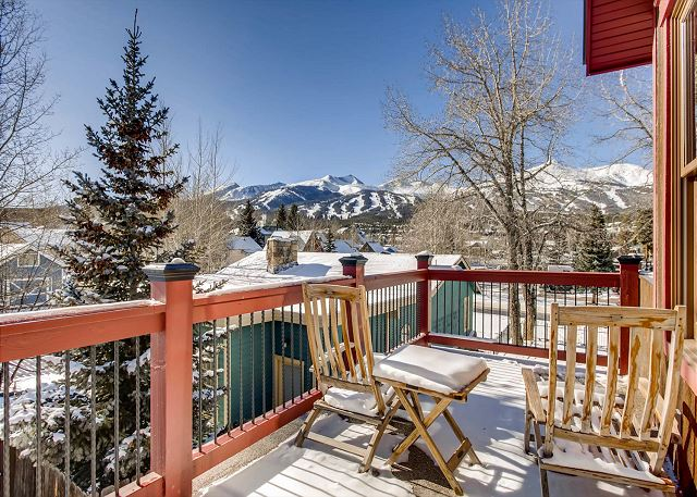 off master suite with views of the ski area