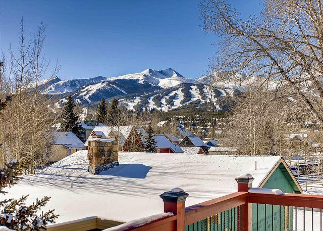 Ski run views!