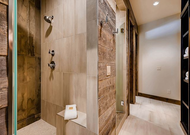 - dual shower stalls, dual toilet rooms, and trough sink, perfect for a bunk room