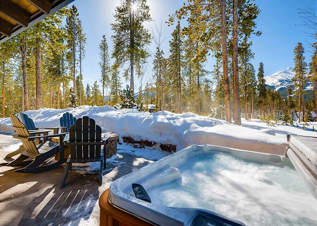 Private hot tub while you take in the ski area views