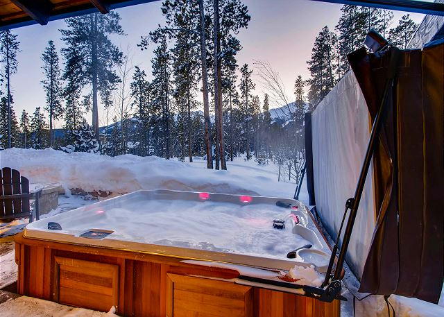 and warm up while you take in the majestic views of the Breckenridge mountains