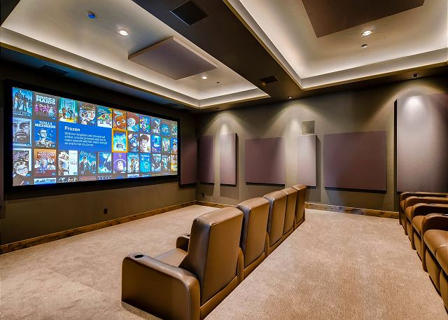 Theater room with extensive movie library on a Kaleidoscope movie system!  Enjoy quality sound and comfort, better than your average night at the movies!