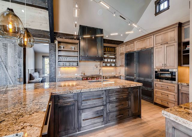 Gourmet kitchen with all the countertop space a person could need while preparing the most delicious of meals