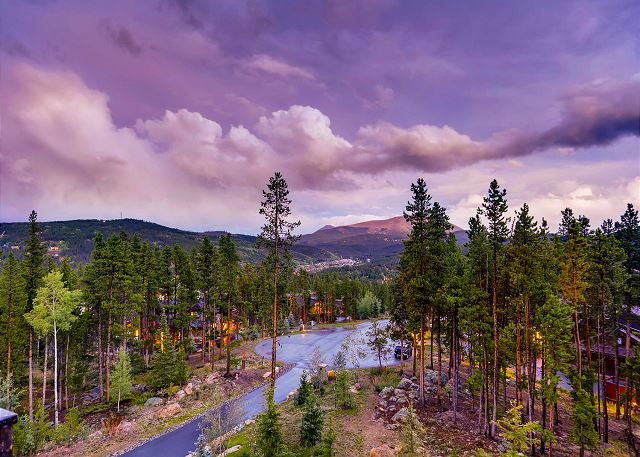 sky and dramatic clouds in the Breckenridge evenings