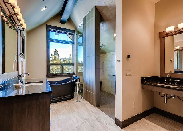 with wheelchair accessible roll in shower