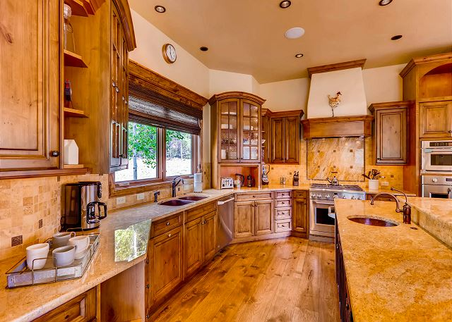 Plenty of counter space in this gourmet kitchen