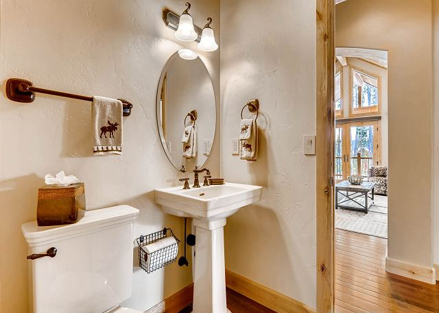 powder bath is shared with Meribel Queen and living area space