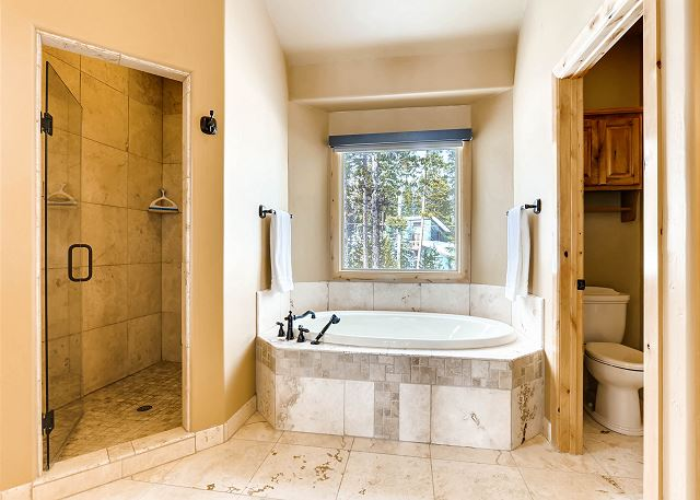 tub and separate shower