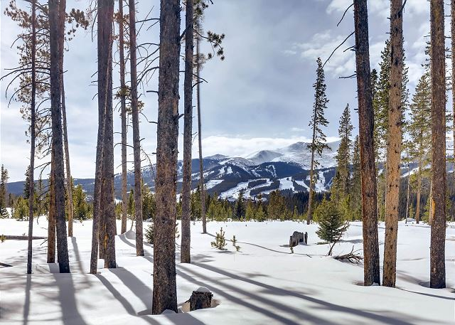 of the Breck ski resort from your patio