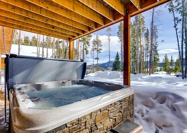 from your private hot tub