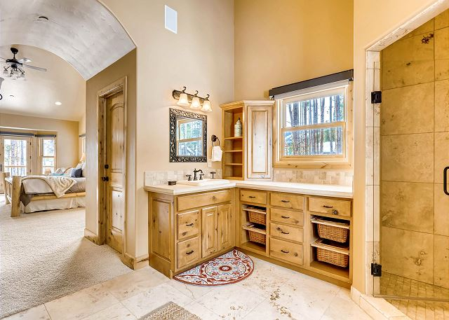 with storage options and plentiful counter space