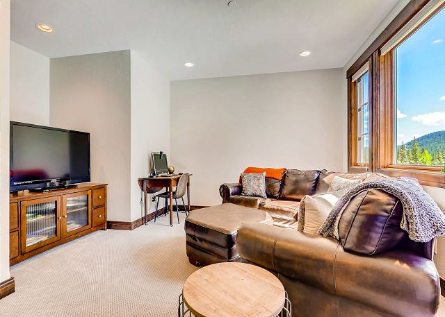 Main level den with TV