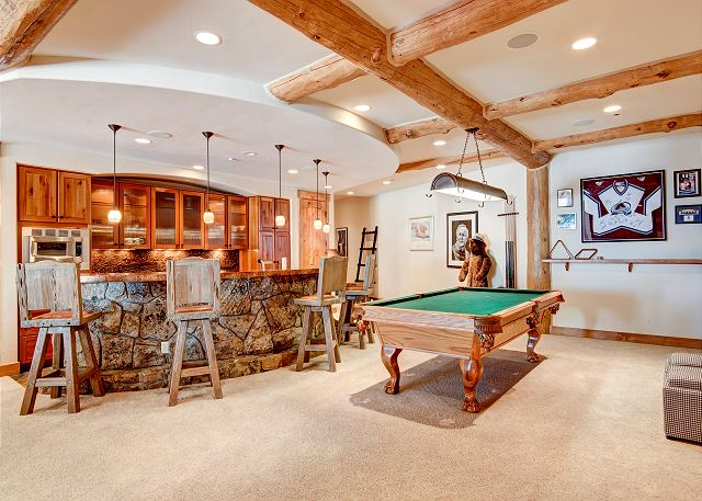 Custom full bar and billiards table