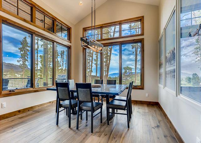 with mountain views through every window