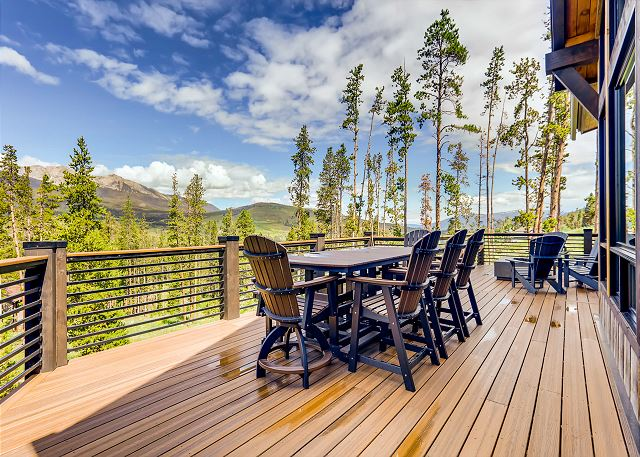 Outdoor dining in summer months