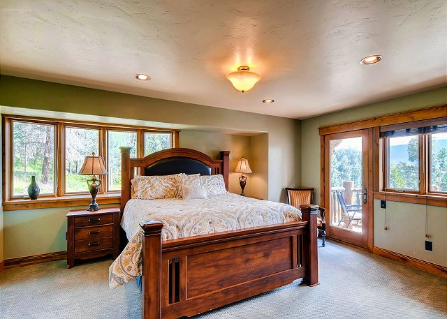 - sleeps 2 in king bed, ensuite bath and private balcony