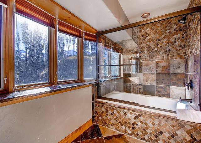 with shower/tub combo