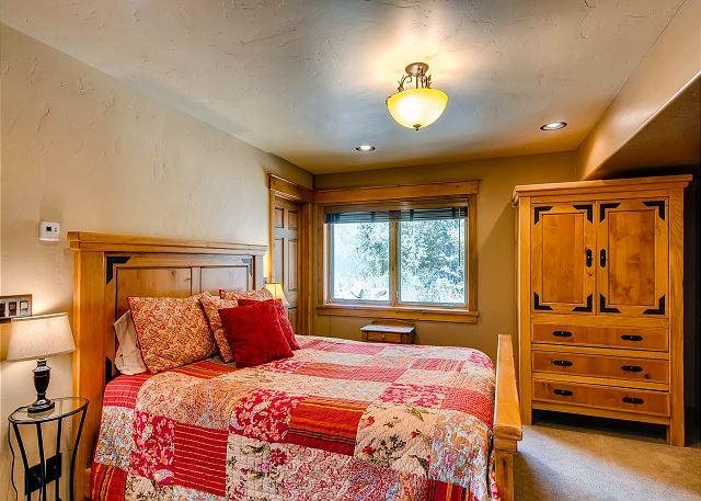 - sleeps 2 in queen bedroom, ensuite bath