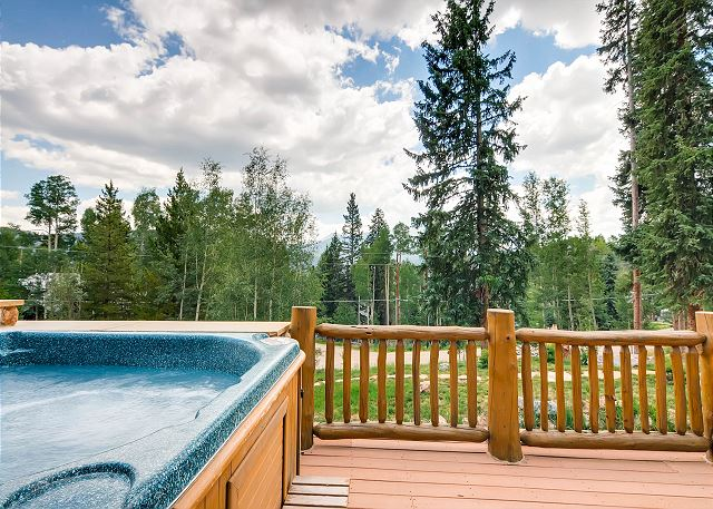 Deck off of Great Room with Hot Tub