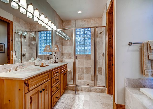 with Tub and Separate Shower, Two Sinks