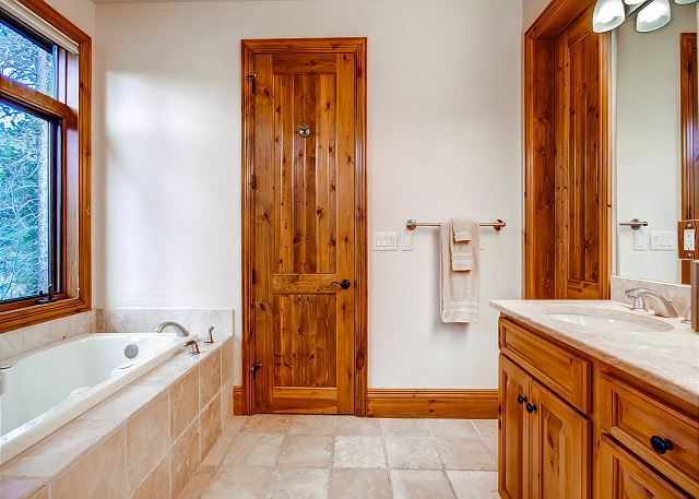 with Tub, Separate Shower and Two Sinks
