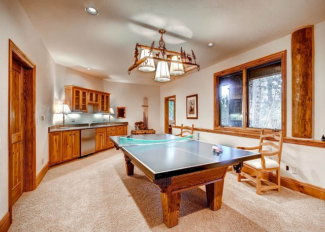Ping Pong Table that converts to Billiards Table and Wet Bar