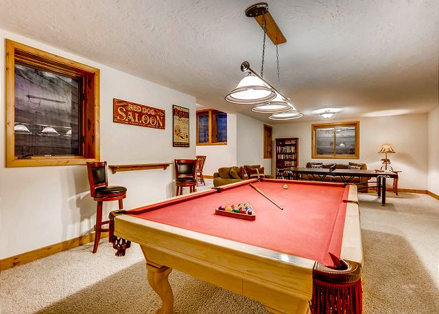 Pool Table and Ping Pong for never ending entertainment!