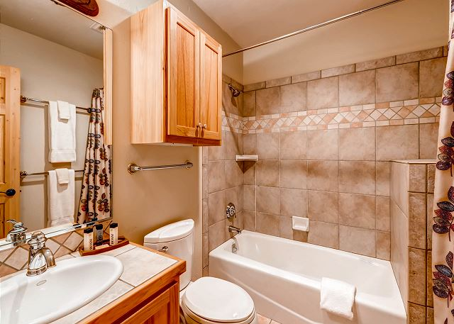 Lower Level Hall Bath Exclusive to Elk Room
