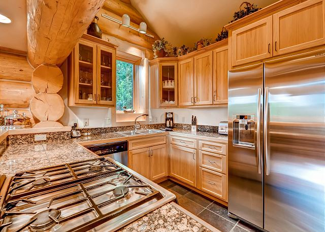 Kitchen featuring Gas Cooktop and high end appliances