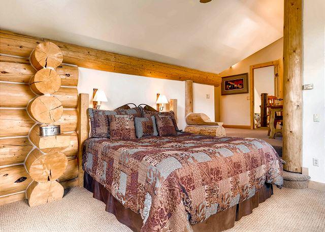 - sleeps 2 in one king bed, around the corner sleep 1-2 in a queen sleeper sofa
