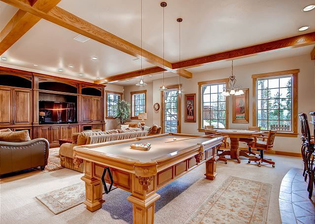 Billiards Table in Lower Level Rec Room