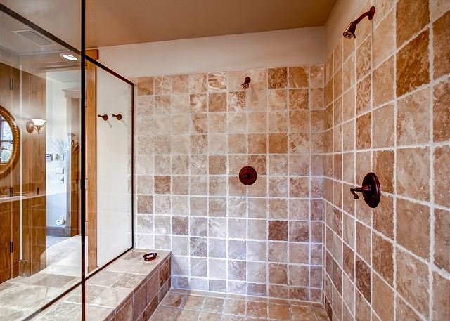 Walk in Shower with Two Shower Heads