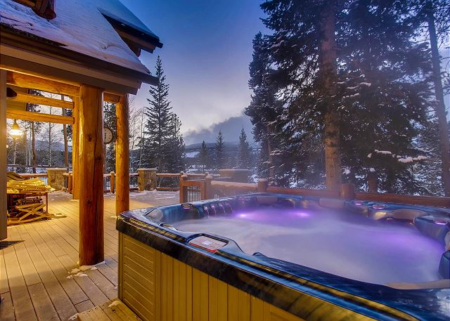 Private hot tub for relaxing any time, day or night