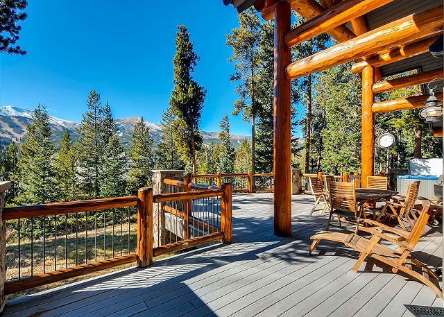 Enjoy the expansive deck and views