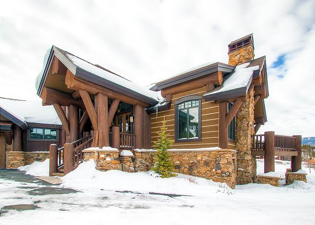 Exterior View with some snow!