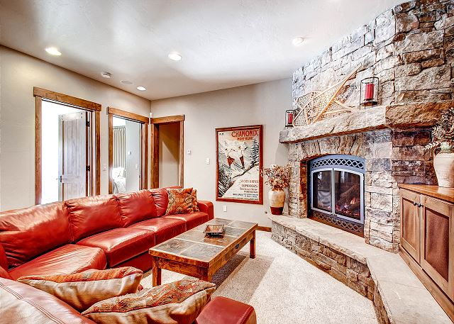 with Gas Fireplace and Large Flat Screen TV