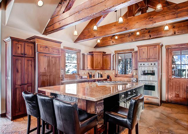 Spacious Kitchen with large island - great space for your group to gather!